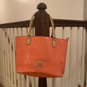Pink leather Guess Purse